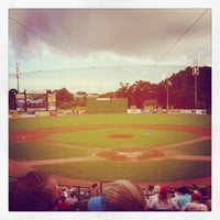 Photo taken at TicketReturn.com Field at Pelicans Ballpark by Jeremy B. on 7/14/2013