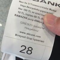 Photo taken at Akbank T.A.Ş Giresun Şubesi by Onur Ö. on 7/30/2015