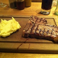Photo taken at Özgür Şef Steakhouse by Mustafa K. on 1/5/2013