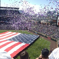 Photo taken at Coors Field by Brittany S. on 4/9/2012
