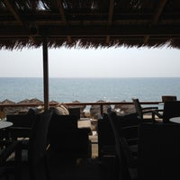 Photo taken at Anemos Beach Bar by Ilias  P. on 9/8/2012