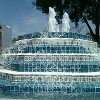 Photo taken at Fluor Fountain by Abraham U. on 4/11/2011