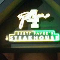 Photo taken at Brett Favre's Steakhouse by Brian A. on 8/31/2012
