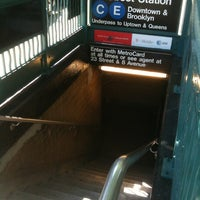 Photo taken at MTA Subway - 23rd St (C/E) by Willie B. on 5/12/2012