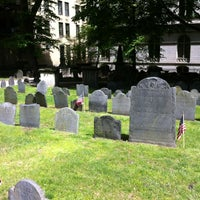 Photo taken at King's Chapel Burying Ground by TJ O. on 5/6/2012