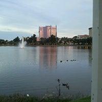 Photo taken at Lake Mirror by Kelly N. on 8/1/2012
