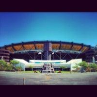 Photo taken at Aloha Stadium by Jasmine C. on 7/4/2012