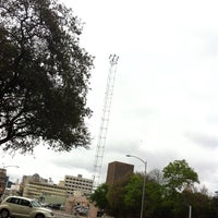 Photo taken at Moonlight Tower (9th & Guadalupe) by Rodrigo M. on 3/27/2014