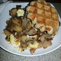 "Photo taken at Grid Iron Waffle Shop by ""JJ"" on 10/2/2014"