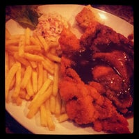 Photo taken at Polperro Fish & Steak by Fauzi R. on 3/20/2013