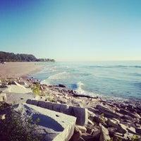 Photo taken at Bradford Beach by Katherine G. on 10/9/2013