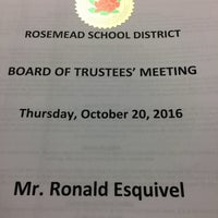 Photo taken at Rosemead School District by Ron E. on 10/21/2016