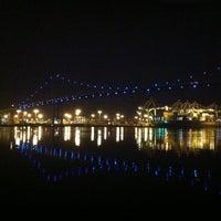 Photo taken at Vincent Thomas Bridge by Brea P. on 3/15/2013