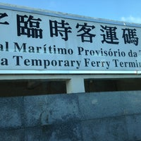 Photo taken at Taipa Ferry Terminal | Terminal Marítimo de Passageiros da Taipa | 氹仔客運碼頭 by Smac on 7/4/2013
