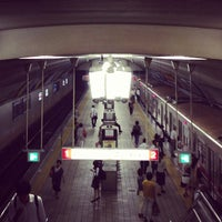 Photo taken at Midosuji Line Yodoyabashi Station (M17) by Daisuke Y. on 7/29/2013