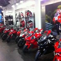 Photo taken at Ducati Triumph New York by Steve L. on 2/5/2013