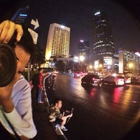 Photo taken at MH. Thamrin - Sudirman Street by Monica K. on 2/1/2014