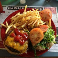 Photo taken at Barnaby's Cafe by Adriana P. on 1/14/2013