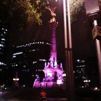 Photo taken at Av. Paseo de la Reforma by Jorge B. on 6/13/2013