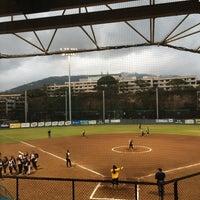 Photo taken at Rainbow Wahine Softball Stadium by Kaonohi B. on 5/9/2014
