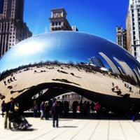 Photo taken at Cloud Gate by Carlomagno I on 3/29/2013