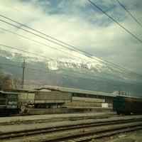 Photo taken at Stazione di Rovereto by Liliam B. on 2/28/2013