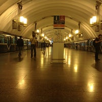 Photo taken at metro Ligovsky Prospekt by Nikita S. on 6/10/2013