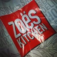 Photo taken at Zoës Kitchen by Alverez M. on 3/28/2013