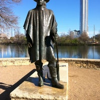Photo taken at Stevie Ray Vaughan Statue by Kay M. on 3/1/2013