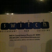 Photo taken at Switch Restaurant & Wine Bar by Michael M. on 2/8/2013