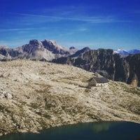 Photo taken at Rif. Franco Cavazza al Pisciadù / Pisciadùhütte by Giacomo B. on 8/14/2016