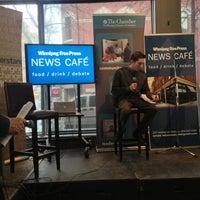 Photo taken at Winnipeg Free Press News Café by Joseph R. on 4/24/2013