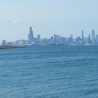 Photo taken at Chicago's Lakefront (Hyde Park) by Amir B. on 4/30/2013