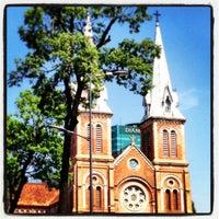 Photo taken at Saigon Notre-Dame Basilica by Alfonso E. on 3/16/2013