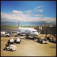 Photo taken at Kahului Airport (OGG) by Kim on 7/18/2013
