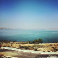 Photo taken at Sea of Galilee - Kinneret (כנרת) by milind s. on 9/14/2012