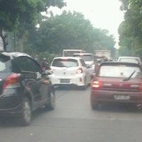 Photo taken at Depan Universitas Pancasila (UP) by Dandun W. on 11/3/2012