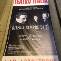 Photo taken at Teatro Italia by MirkoS S. on 10/9/2012