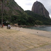 Photo taken at Praia Vermelha by Trina S. on 3/1/2013