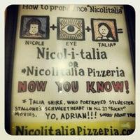 Photo taken at Nicolitalia Pizzeria by Brady L. on 1/3/2013