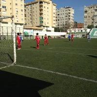 Photo taken at Bornova Stadı by Ozan P. on 1/9/2013