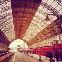 Photo taken at Kievsky Rail Terminal by Daniil K. on 4/28/2013