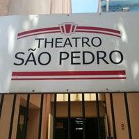 Photo taken at Theatro São Pedro by Vitor P. on 2/18/2013