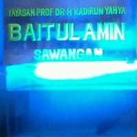 Photo taken at Surau Baitul Amin Sawangan by imam b. on 3/21/2013