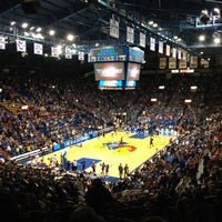 Photo taken at Allen Fieldhouse by Ryan S. on 10/31/2012
