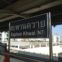 Photo taken at BTS Saphan Khwai (N7) by first p. on 12/25/2012