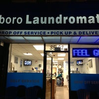 Photo taken at Triboro Laundromat by Katie A. on 9/17/2013