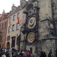 Photo taken at Prague Astronomical Clock by Masha S. on 4/20/2013