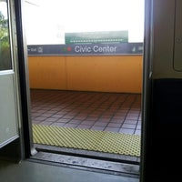 Photo taken at MDT Metrorail - Civic Center Station by james j. on 4/26/2013