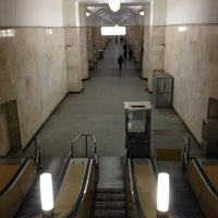 Photo taken at metro Avtozavodskaya by Дмитрий И. on 2/27/2013